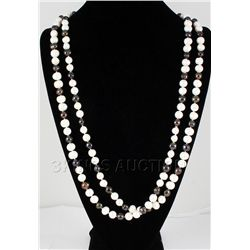 885.00CTW Black&White Freshwater Pearl Necklace