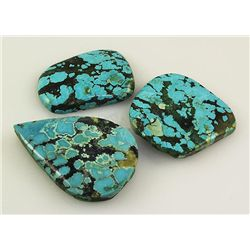 Natural Turquoise 201.63ctw Loose Gemstone 3pc Big Size