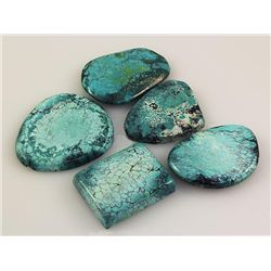 Natural Turquoise 202.75ctw Loose Gemstone Lot of 5