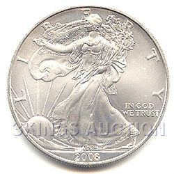 Uncirculated Silver Eagle 2008