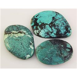 Natural Turquoise 189.10ctw Loose Gemstone 3pc Big Size