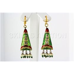 6.58GRAM INDIAN HANDMADE LAKH FASHION EARRING