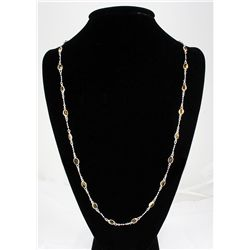 Natural Citrine 22.10CT SilverSwivelLinkChainNecklace 1
