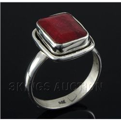 RUBY CORRUNDUM 26.81CTW STERLING SILVER RING