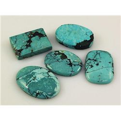 Natural Turquoise 205.13ctw Loose Gemstone Lot of 4