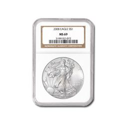 2008 Silver American Eagle (NGC MS-69)