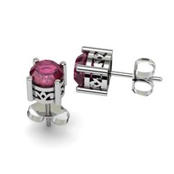 Ruby 2.10ctw Earring 14kt White Gold