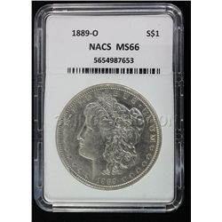 1889-0 Morgan NACS MS66 Rare!