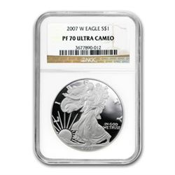 2007-W (Proof) Silver American Eagle PF-70 UCAM NGC $1