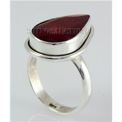 RUBY CORRUNDUM 27.64CTW STERLING SILVER RING
