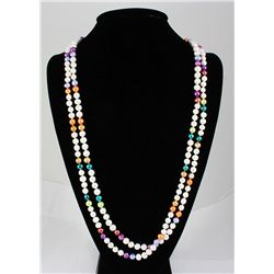 522.00CTW Multi Color Freshwater Pearl Necklace