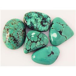 Natural Turquoise 165.98ctw Loose Small Gemstone Lot of