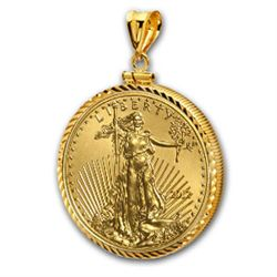 2012 1 oz Gold Eagle Pendant (Diamond-ScrewTop Bezel)14