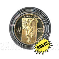 Gold $5 Commemorative 1992 Olympic BU