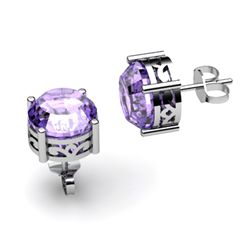 Tanzanite 3.10ctw Earring 14kt White Gold