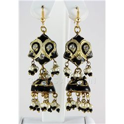 10.47GRAM INDIAN HANDMADE LAKH FASHION EARRING