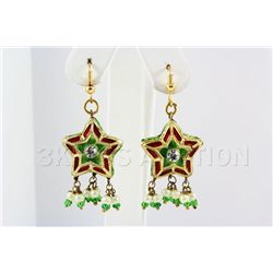 5.91GRAM INDIAN HANDMADE LAKH FASHION EARRING