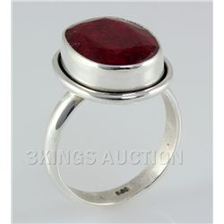 RUBY CORRUNDUM 25.34CTW STERLING SILVER RING