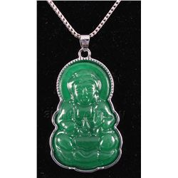 "40.92CTW JADE BUDDHA SILVER PLATED <a hre<="""" p="