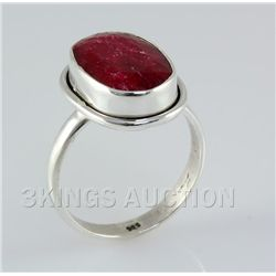 RUBY CORRUNDUM 30.12CTW STERLING SILVER RING