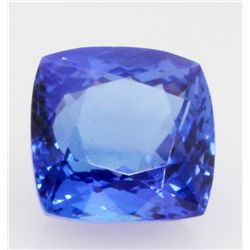 5.98 ct Tanzanite African Stone Cushion approx. 8.5x11.