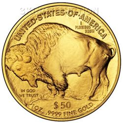 One Ounce 2009 Gold Buffalo Coin Uncirculated
