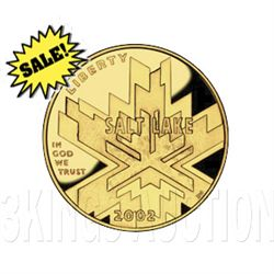 Gold $5 Commemorative 2002 Olympic 2002 Proof