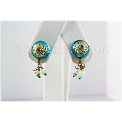 2.19GRAM INDIAN HANDMADE LAKH STUD FASHION EARRING