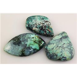 Natural Turquoise 197.30ctw Loose Gemstone 3pc Big Size