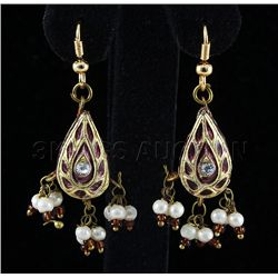 3.14GRAM INDIAN HANDMADE LAKH FASHION EARRING