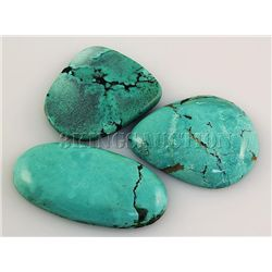 Natural Turquoise 194.35ctw Loose Gemstone Lot of 4