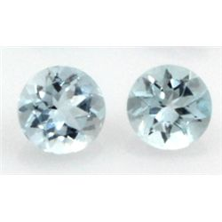 9mm GENUINE FACETED AAA - NATURAL AQUAMARINE
