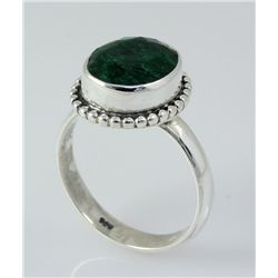 EMERALD BERYL 21.42CTW STERLING SILVER RING