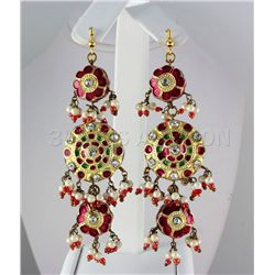 17.14GRAM INDIAN HANDMADE LAKH FASHION EARRING