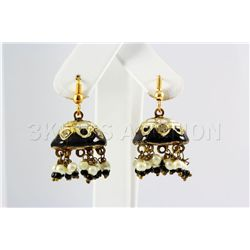 6.82GRAM INDIAN HANDMADE LAKH FASHION EARRING
