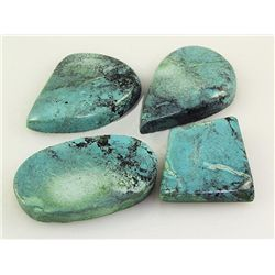 Natural Turquoise 211.08ctw Loose Gemstone Lot of 4