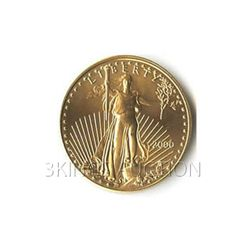 One-Tenth Ounce 2000 US American Gold Eagle Uncirculate