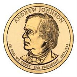 Presidential Dollars Andrew Johnson 2011-D 25 pcs (Roll