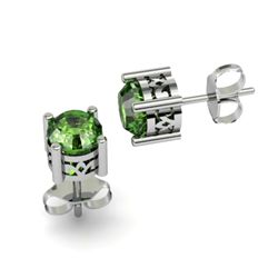 Tourmaline 1.50ctw Earring 14kt White Gold