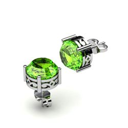 Peridot 2.50ctw Earring 14kt White Gold