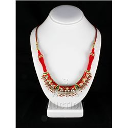 28.68GRAM INDIAN HANDMADE LAKH FASHION NECKLACE