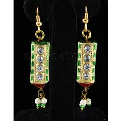 4.01GRAM INDIAN HANDMADE LAKH FASHION EARRING