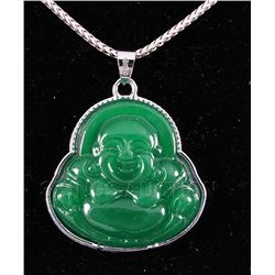 32.01CTW JADE BUDDHA SILVER PLATED <a hre