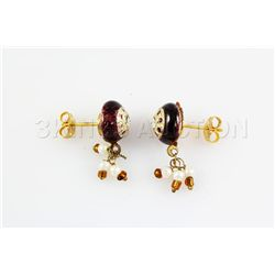 2.33GRAM INDIAN HANDMADE LAKH STUD FASHION EARRING