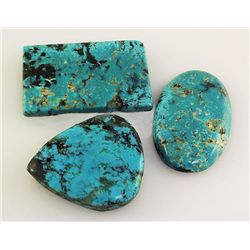 Natural Turquoise 187.57ctw Loose Gemstone 3pc Big Size