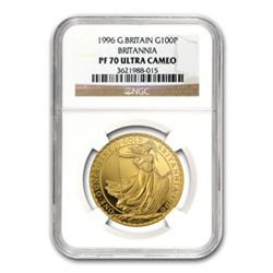 1996 1 oz Proof Gold Britannia PF-70 UCAM NGC - Registr