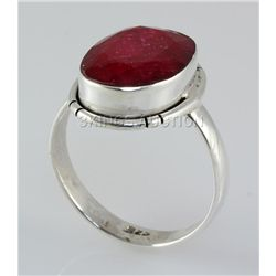 RUBY CORRUNDUM 21.93CTW STERLING SILVER RING