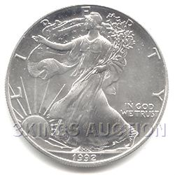 Uncirculated Silver Eagle 1992