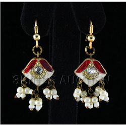3.06GRAM INDIAN HANDMADE LAKH FASHION EARRING