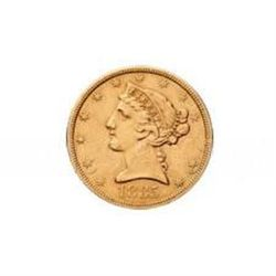Early Gold Bullion $5 Liberty Extra Fine
